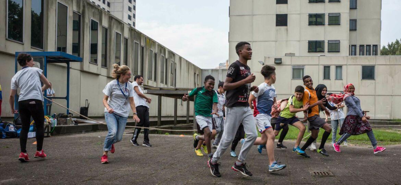 Kinderen tijdens activiteiten TeamUp. Fotograaf Daniel Maissan.