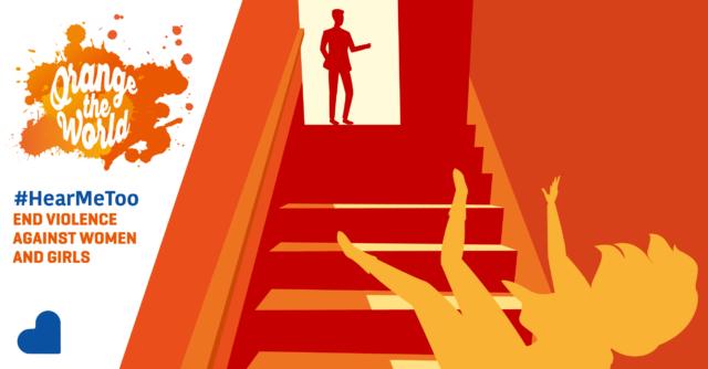 vrouw valt van trap