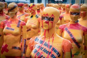 protest voor vrouwen en hun rechten